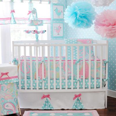 My Baby Sam Pixie Baby In Aqua 3-pc. Crib Bedding Set