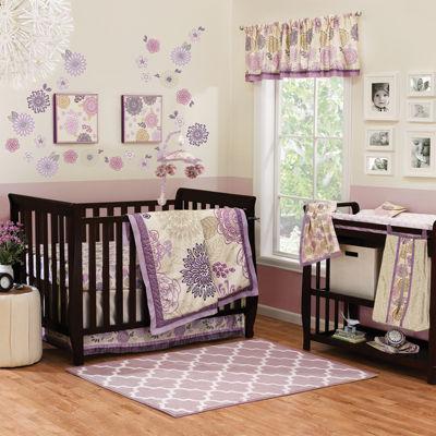 The Peanut Shell® 4-pc. Dahlia Crib Bedding Set