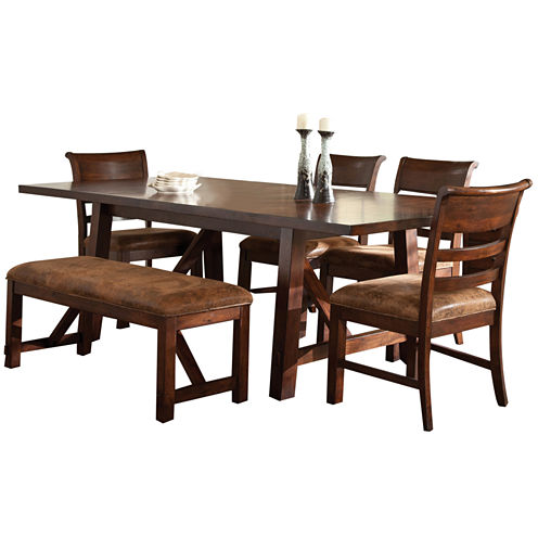 Bear River 6 Pc Dining Table Set