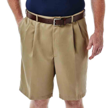 Haggar 174 Cool 18 174 No Iron Pleated Shorts Big Amp Tall Jcpenney