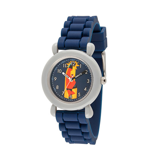 Disney The Incredibles 2 Bob The Incredibles Boys Blue Strap Watch-Wds000563