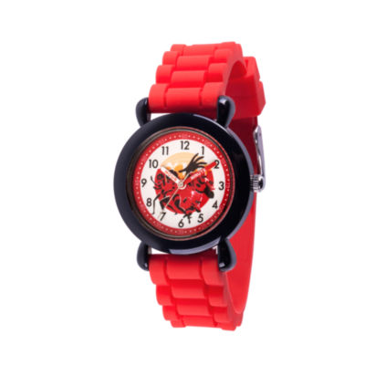 Disney The Incredibles 2 Boys Red Strap Watch-Wds000564