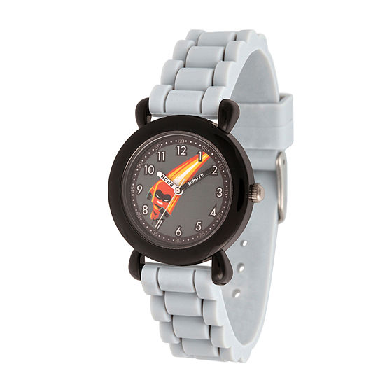 Disney Collection The Incredibles 2 Dashiell The Incredibles Boys Gray Strap Watch-Wds000566