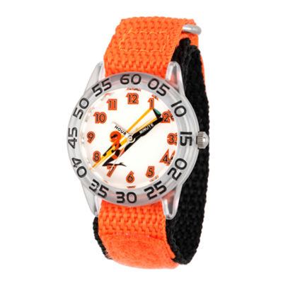 Disney The Incredibles 2 Helen Boys Orange Strap Watch-Wds000569