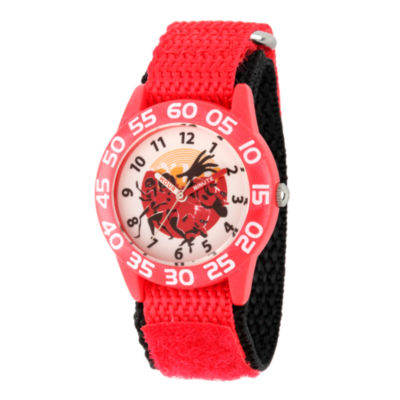 Disney The Incredibles 2 Boys Red Strap Watch-Wds000570
