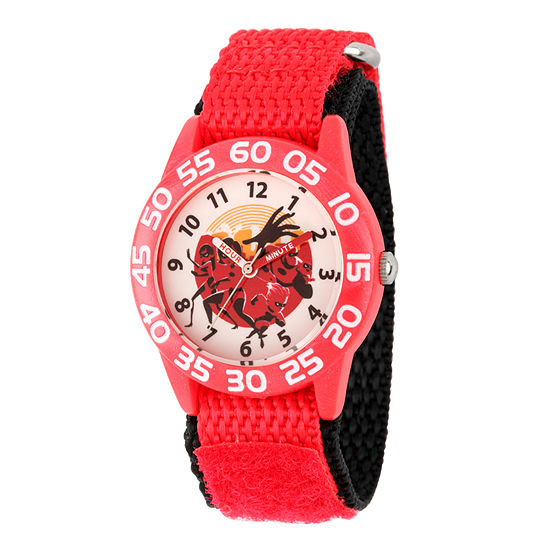 Disney The Incredibles 2 The Incredibles Boys Red Strap Watch-Wds000570