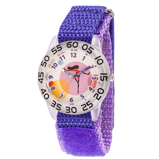 The Incredibles 2 Violet The Incredibles Girls Purple Strap Watch-Wds000571
