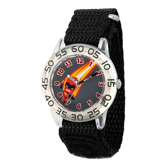 Disney The Incredibles 2 Dashiell The Incredibles Boys Black Strap Watch-Wds000572