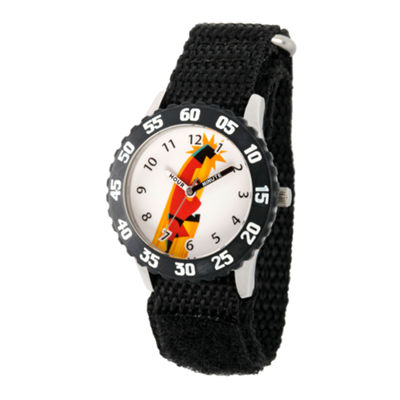 Disney The Incredibles 2 Bob Boys Black Strap Watch-Wds000574