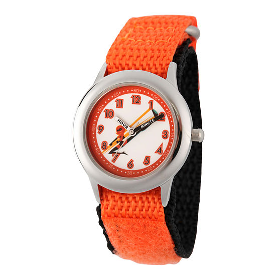 Disney The Incredibles 2 Helen The Incredibles Boys Orange Strap Watch-Wds000575