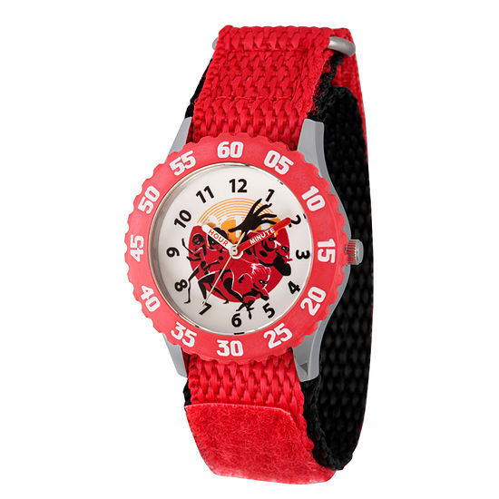 Disney The Incredibles 2 The Incredibles Boys Red Strap Watch-Wds000576