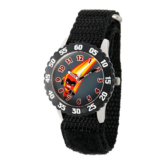Disney The Incredibles 2 Dashiell The Incredibles Boys Black Strap Watch-Wds000578