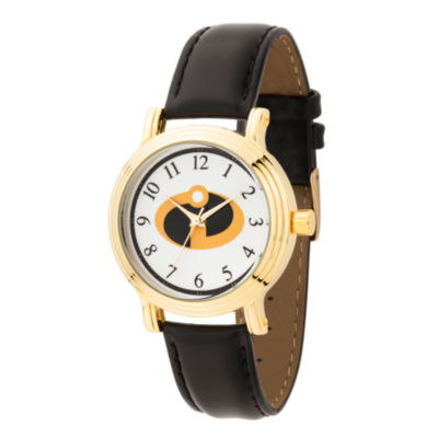 Disney The Incredibles 2 Womens Black Strap Watch-Wds000583