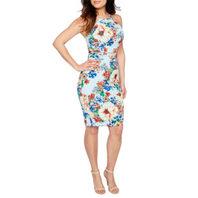 Premier Amour Sleeveless Pattern Sheath Dress