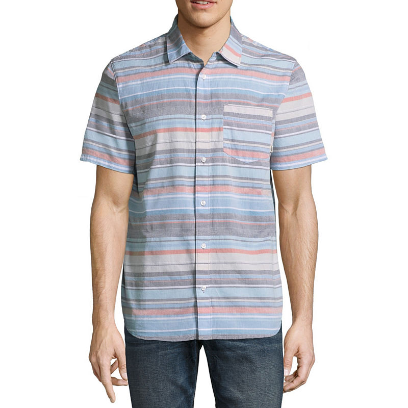 image of Vans Short Sleeve Button-Front Shirt-ppr5007630425