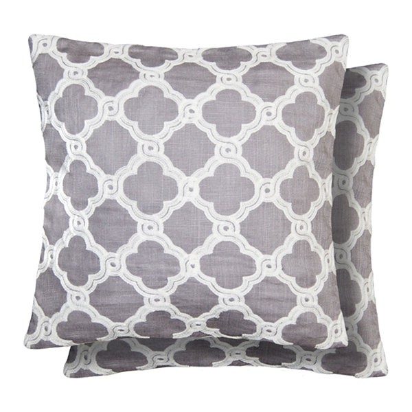Crystal 2-Pack Square Throw Pillow