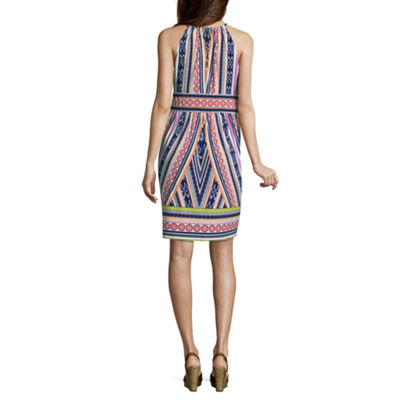 London Times Sleeveless A-Line Dress-Petite