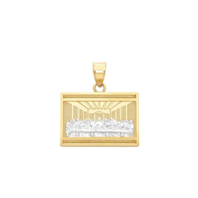 Religious Jewelry Womens 14K Gold Pendant