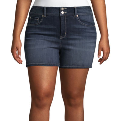 "Wallflower 3"" Denim Shorts-Juniors"