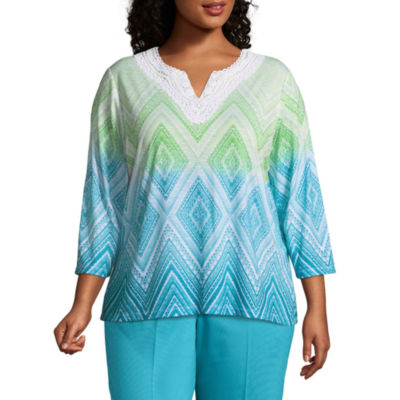 Alfred Dunner Turks & Caicos Diamond Ombre Tunic- Plus