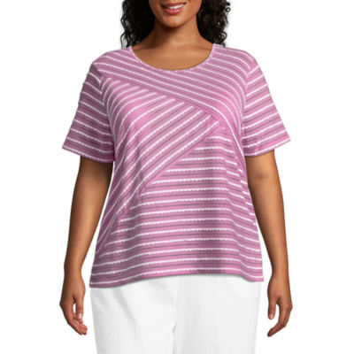 Alfred Dunner Los Cabos Stripe Tee- Plus