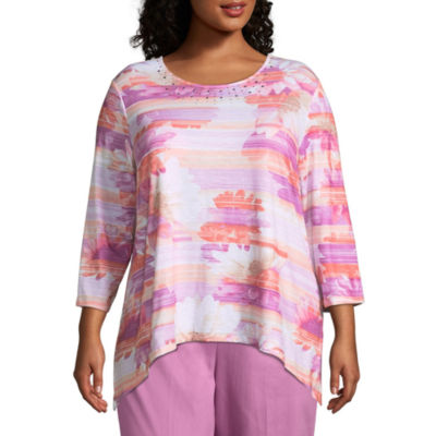 Alfred Dunner Los Cabos Floral Tee- Plus