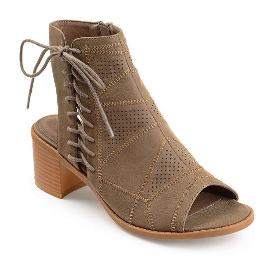 Journee Collection Womens Elexy Booties Block Heel