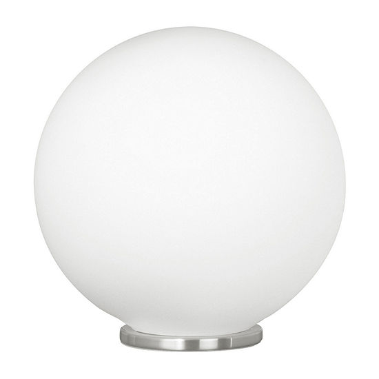 Eglo Rondo 9in Silver Steel And Glass Table Lamp