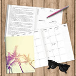 "Tf Publishing July 2020 - June 2021 Tropical Sunset Medium 7.5"" X 10.25"" Monthly Planner"