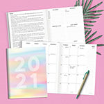 "Tf Publishing July 2020 - June 2021 Diverging Colors Medium 7.5"" X 10.25"" Monthly Planner"