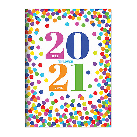 "Tf Publishing July 2020 - June 2021 Confetti Dot Medium 7.5"" X 10.25"" Monthly Planner"