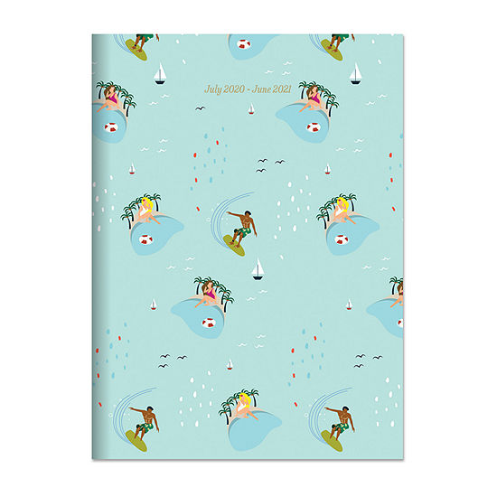 "Tf Publishing July 2020 - June 2021 Surf & Sand Medium 7.5"" X 10.25"" Monthly Planner"