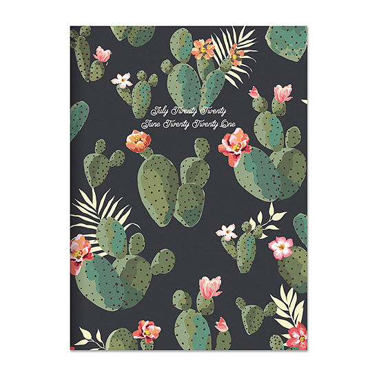 "Tf Publishing July 2020 - June 2021 Cacti Colors Medium 7.5"" X 10.25"" Monthly Planner"