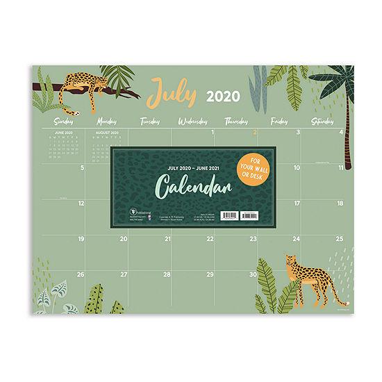 "Tf Publishing July 2020 - June 2021 Monthly Theme Large 17"" X 22"" Desk Pad Monthly Blotter Desktop Calendar"