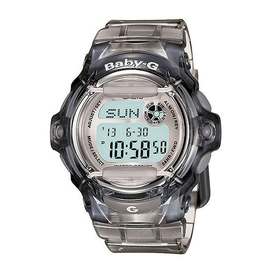 Casio Baby G Womens Digital Gray Strap Watch-Bg169r-8m