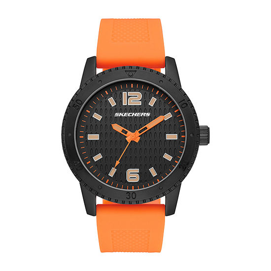 Skechers Redondo Mens Orange Strap Watch-Sr5130