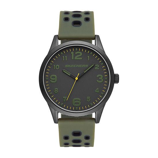 Skechers Kingsdale Mens Green Strap Watch-Sr5125