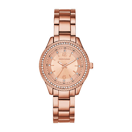 Skechers Chabela Womens Crystal Accent Rose Goldtone Bracelet Watch - Sr6123, One Size