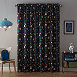 Waverly Space Adventure Light-Filtering Rod-Pocket Single Curtain Panel
