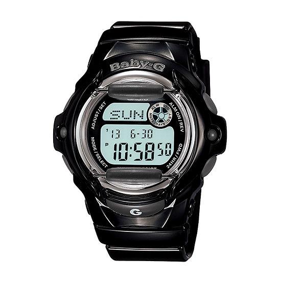 Casio Baby G Womens Digital Black Strap Watch-Bg169r-1m