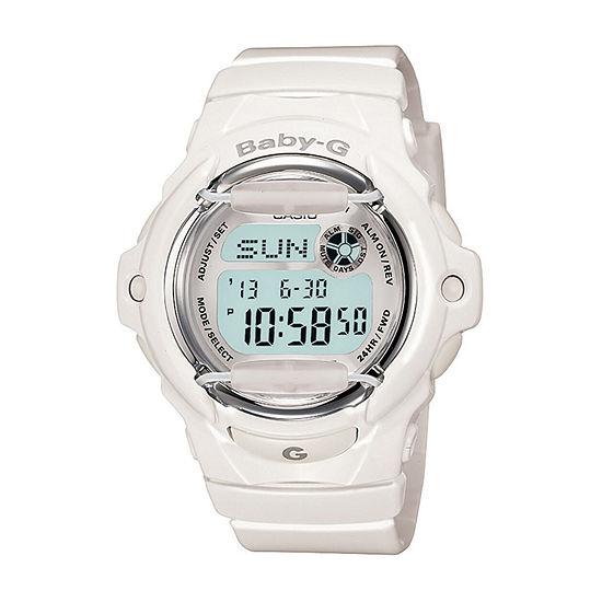 Casio Baby G Womens Digital White Strap Watch-Bg169r-7am