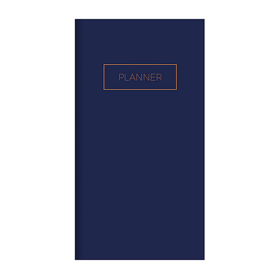 """Tf Publishing Classic Navy Undated 3.5"""" X 6.5"""" Monthly Pocket Planner"""