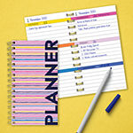 "Tf Publishing Pink Stripe Undated Ultimate 3.5"" X 6.5"" Weekly Spiral Pocket Planner"