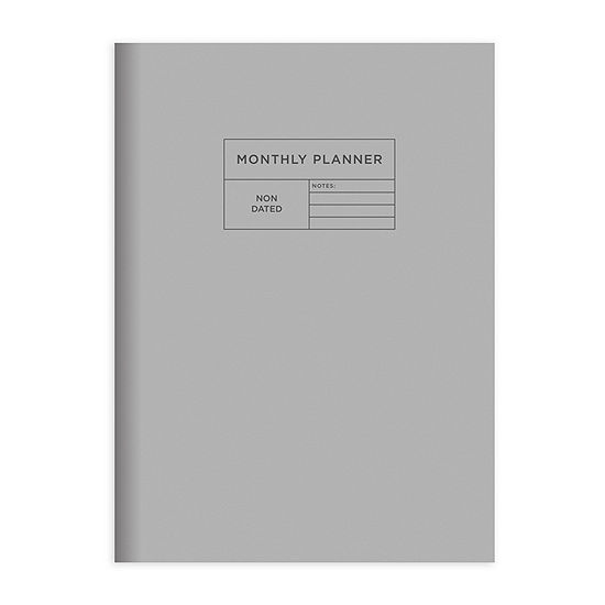 "Tf Publishing Professional Gray Undated Medium 7.5"" X 10.25"" Monthly Planner"