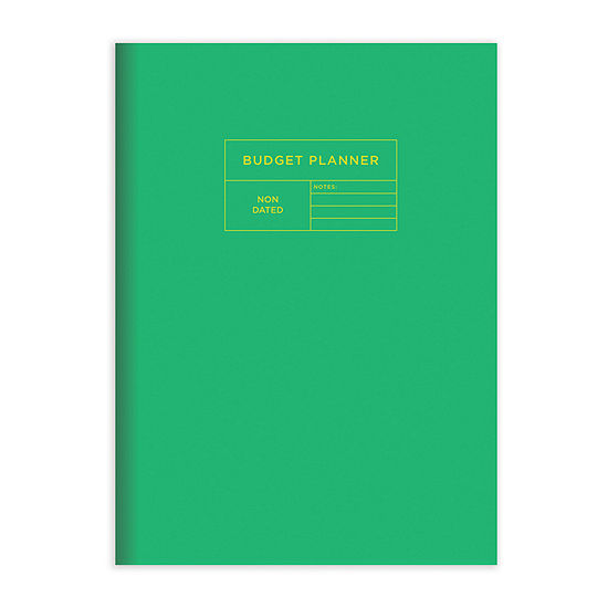 """Tf Publishing Green Budget Tracker / Family Finance 7.5"""" X 10.25"""" Monthly Planner"""