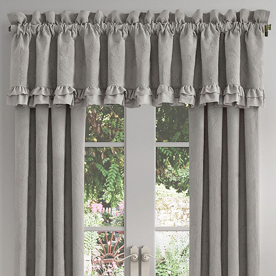 Queen Street Emelia Rod-Pocket Tailored Valance