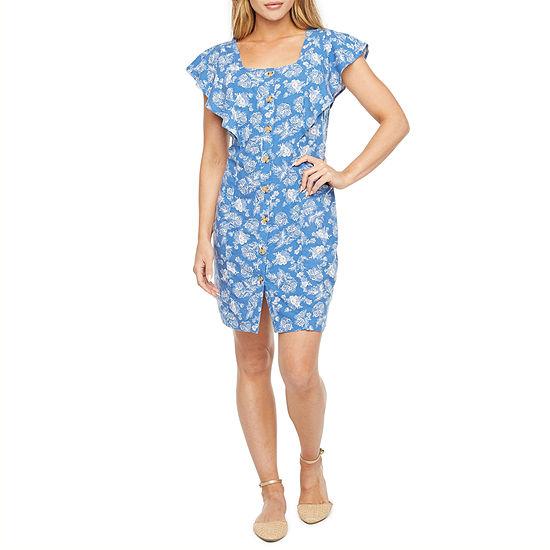 a.n.a Short Sleeve Sheath Dress