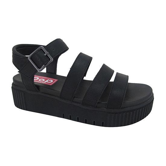 Pop Womens Swelter Adjustable Strap Flat Sandals