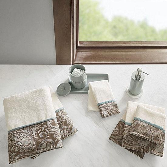 Madison Park Whitman Cotton Jacquard 6-pc. Paisley Bath Towel Set