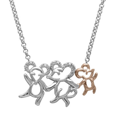 Diamond-Accent Two-Tone Mouse Pendant Necklace